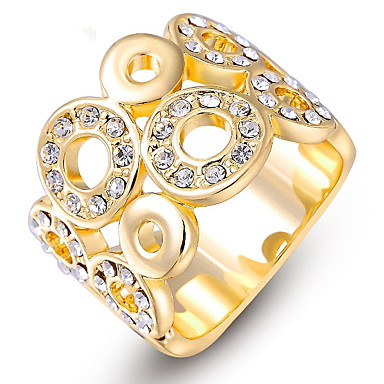 Damen Bandring Kristall Personalisiert Luxus Klassisch Grundlegend Sexy Liebe Elegant nette Art Modisch Krystall Aleación Kreisform