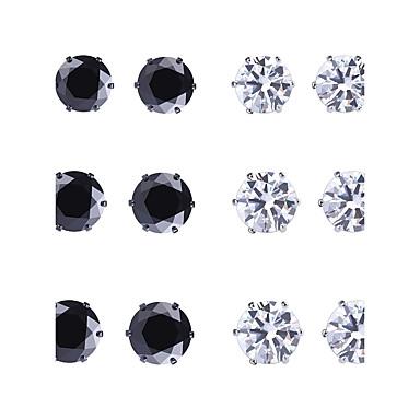 Pentru femei Cercei Stud Zirconiu Cubic Plastic Zirconiu Geometric Shape Metalic Lux Boem Confecționat Manual Adorabil Nuntă Bebeluș nou