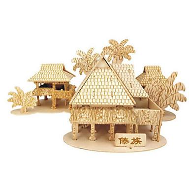 3D - Puzzle Holzpuzzle Spielzeuge Berühmte Gebäude Architektur 3D Heimwerken Holz Naturholz Unisex Stücke
