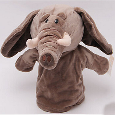 Păpuși de Degete Λούτρινα παιχνίδια Jucarii Elefant Cai Cow Hipopotan Cerb Animale Stofă de Bumbac Pentru copii Adulți Bucăți