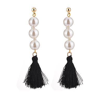 Pentru femei Cercei Picătură Imitație de Perle Ciucure Sexy Elegant Modă Imitație de Perle Aliaj Bijuterii Alb Negru Zilnic Casual Serată