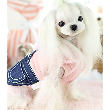 Câine Γιλέκο Îmbrăcăminte Câini Mată Albastru Roz Bumbac Jos Costume Pentru animale de companie Casul/Zilnic