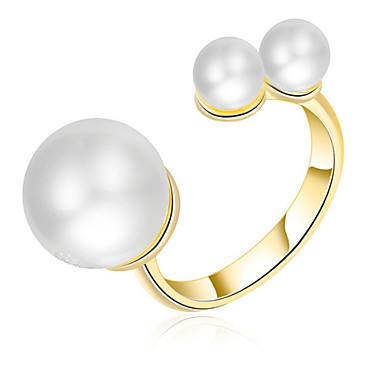 Pentru femei Verighete manşetă Ring Imitație de Perle Design Basic Iubire Cute Stil bijuterii de lux Clasic Elegant Sexy La modă