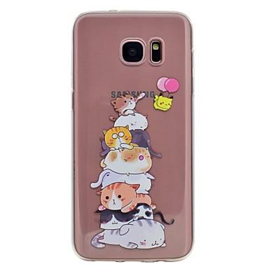 Hülle Für Samsung Galaxy S8 Plus S8 Muster Rückseitenabdeckung Katze Weich TPU für S8 S8 Plus S7 edge S7 S6 edge S6
