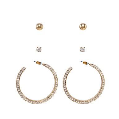 للمرأة خلف القرط حجر الراين مخصص موضة تقليد الماس سبيكة مجوهرات يوميا فضفاض شارع