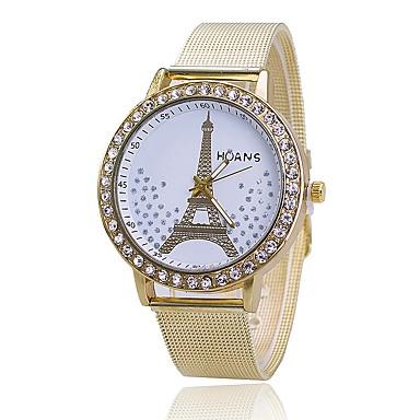 Pentru femei Ceas Elegant Ceas La Modă Simulat Diamant Ceas Japoneză Quartz Aliaj Bandă Turnul Eiffel Charm Casual Elegant Auriu