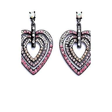 للمرأة أقراط الزر حجر الراين مخصص موضة اسلوب لطيف المتضخم سبيكة Heart Shape مجوهرات من أجل الغير يوميا خشبة المسرح عطلة ذهاب للخارج