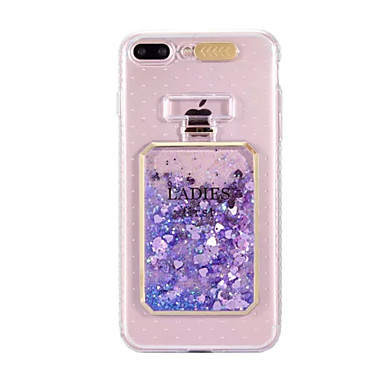 iPhone Apple a torcia TPU Con Plus cascata 8 per Per Liquido iPhone Custodia iPhone 06134566 8 disegno Fantasia Per LED Glitterato 8 retro Morbido xF8EwP