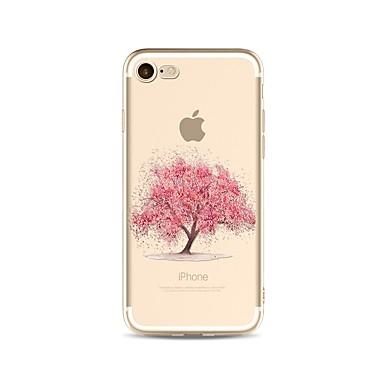 hoesje Voor Apple iPhone X iPhone 8 Plus Transparant Patroon Achterkant Boom Zacht TPU voor iPhone X iPhone 8 Plus iPhone 8 iPhone 7 Plus