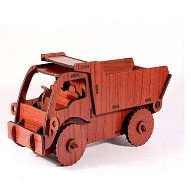 لعبة سيارات قطع تركيب3D تركيب النماذج الخشبية سيارة اصنع بنفسك خشب الخشب الطبيعي سيارة الحفريات للأطفال للجنسين هدية