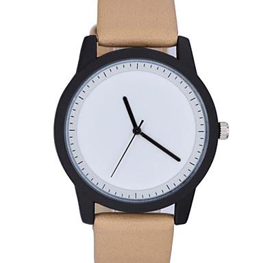 Heren Modieus horloge Kwarts Echt leer Band Informeel minimalistische Zwart Bruin Groen Grijs Kaki