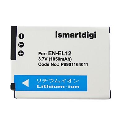 Ismartdigi el12 3.7v 1050mah camera pentru acumulator nikon en-el12 enel12 p310 p330 s6200 s6300 s9400 s9500