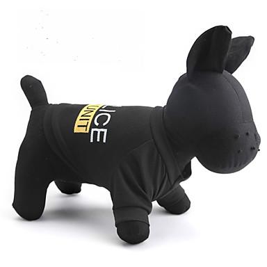 Katze Hund T-shirt Hundekleidung Buchstabe & Nummer Polizei / Militär Schwarz Terylen Kostüm Für Haustiere
