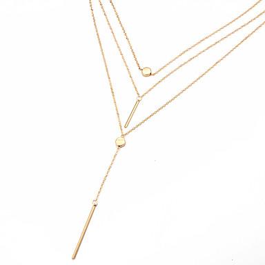 Pentru femei Geometric Shape Personalizat Design Unic Stil Atârnat Clasic Modă Adorabil Hipoalergenic Coliere Choker Coliere cu Pandativ