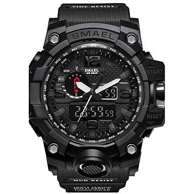 levne Pánské-SMAEL Pánské Sportovní hodinky Vojenské hodinky Digitální hodinky japonština Digitální Z umělé kůže Silikon Černá / Červená / Orange 50 m Voděodolné Kalendář Chronograf Analog - Digitál Na běžn