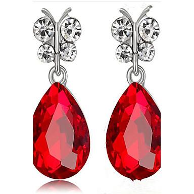 Damen Tropfen-Ohrringe Imitation Sapphire Imitation Diamant Modisch Aleación Tropfen Schmuck Für Party Geburtstag Alltag