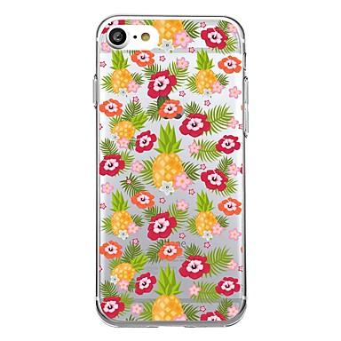 Pentru iphone 7plus caz acoperă model transparent back cover case țiglă fructe ananas moale tpu pentru iphone 7 6splus 6plus 6s 6 5 5s se