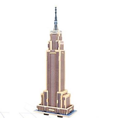 قطع تركيب3D تركيب النماذج الخشبية بناء مشهور معمارية 3D خشب الخشب الطبيعي عيد ميلاد للجنسين هدية