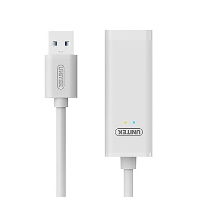 Unitek USB 3.0 Adaptor, USB 3.0 to RJ45 Adaptor Bărbați-Damă 0,15M (0.5Ft)
