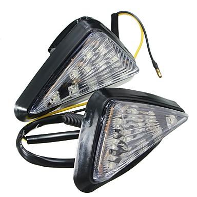 voordelige Motorverlichting-ziqiao 1 paar motorfiets helder inbouw knipperlicht led lamp oranje knipperlicht knipperlichten verlichting