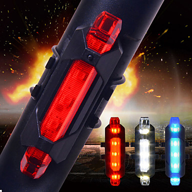 cheap Bike Lights-LED Bike Light Rear Bike Tail Light Safety Light Tail Light - Cycling Smart Impact Resistant Multiple Modes Other Cell Batteries 15 lm USB Battery Everyday Use Cycling / Bike