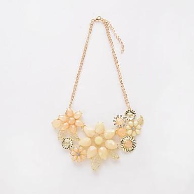 Pentru femei Coliere Choker Coliere cu Pandativ Lănțișoare Diamant sintetic Circle Shape Flower Shape Reșină Stil Floral Flori Petale