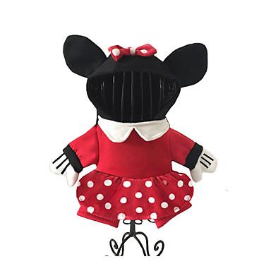 كلب ازياء تنكرية ملابس الكلاب الكوسبلاي كرتون أسود فوشيا أحمر