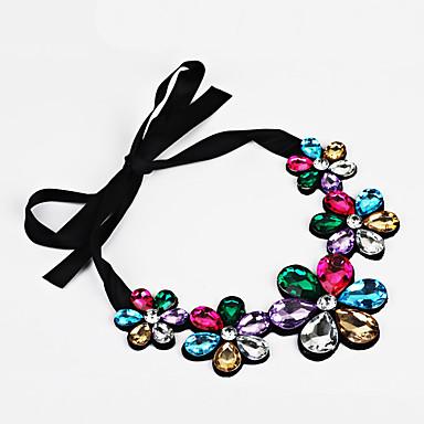 Damen Blume Personalisiert Bänder Einstellbar Statement Ketten Kristall Aleación Statement Ketten . Party Geburtstag Verlobung Alltag