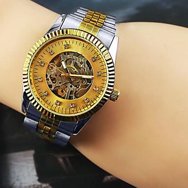 Bărbați Ceas La Modă ceas mecanic Mecanism automat Aliaj Bandă Argint Auriu