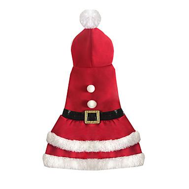 Câine Salopete Îmbrăcăminte Câini Crăciun Crăciun Rosu