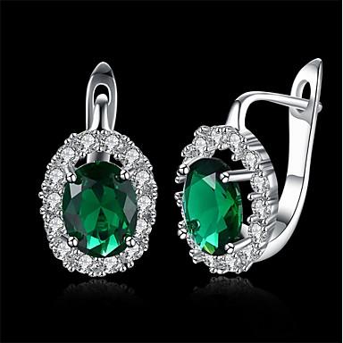 Dames Ring oorbellen Clip oorbellen Zirkonia Basisontwerp Hypoallergeen leuke Style Gothic Eenvoudige Stijl Klassiek Modieus Vintage