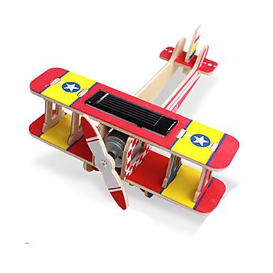 Jucării Încărcate Solar Puzzle 3D Puzzle Modele de Lemn Μοντέλα και κιτ δόμησης Jucării Educaționale Aeronavă 3D Alimentat solar Reparații