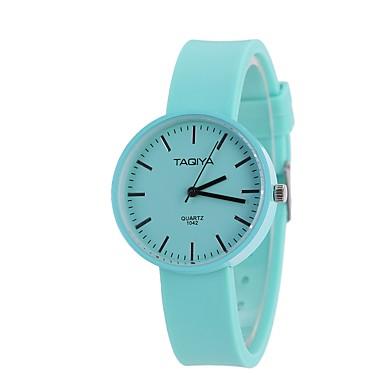 Pentru femei Quartz Ceas de Mână Chineză cald Vânzare Material Silicon Bandă Prăjit Casual Unic Watch Creative Modă Negru Alb Albastru
