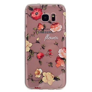 Hülle Für Samsung Galaxy S8 Plus S8 Muster Rückseitenabdeckung Blume Weich TPU für S8 S8 Plus S7 edge S7 S6 edge S6