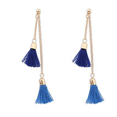Pentru femei Cercei Stud Cercei Picătură Bijuterii Ciucure Vintage Boem Modă Aliaj Bijuterii Maro Rosu Verde Albastru Roz Zilnic Casual