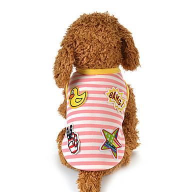 Hund Weste Hundekleidung Lässig/Alltäglich Karton Blau Rosa Kostüm Für Haustiere