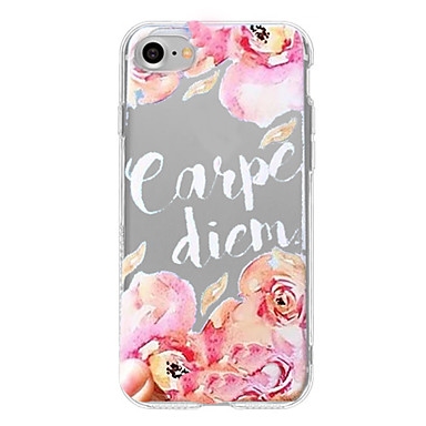 Hülle Für Apple iPhone 7 Plus iPhone 7 Muster Rückseite Wort / Satz Blume Weich TPU für iPhone 7 Plus iPhone 7 iPhone 6s Plus iPhone 6s