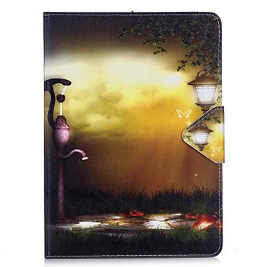 Hoesje voor Samsung Galaxy T280 T580 hoesje cover licht licht patroon pu materiaal triple tablet pc hoesje telefoon hoesje