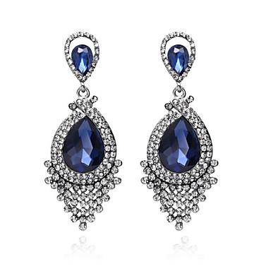Damen Tropfen-Ohrringe Synthetischer Diamant Modisch Diamantimitate Aleación Tropfen Schmuck Hochzeit Party Verlobung Geschenk Alltag
