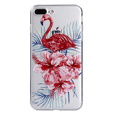 Maska Pentru Apple iPhone 7 Plus iPhone 7 Transparent Model Capac Spate Flamingo Floare Moale TPU pentru iPhone 7 Plus iPhone 7 iPhone 6s