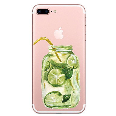 hoesje Voor Apple iPhone 7 Plus iPhone 7 Transparant Patroon Achterkant Fruit Zacht TPU voor iPhone 7 Plus iPhone 7 iPhone 6s Plus iPhone