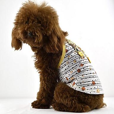 Hond Jurken Hondenkleding Casual/Dagelijks Sterren Geel Rood Groen Kostuum Voor huisdieren