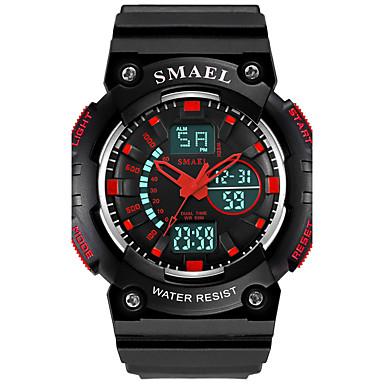 SMAEL Heren Kinderen Polshorloge Modieus horloge Sporthorloge Chinees Digitaal Hot Sale PU Band Amulet Zwart