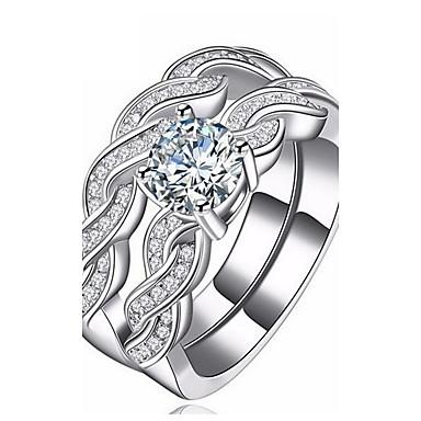 Dames Kubieke Zirkonia Zilver Zirkonia Oneindigheid Modieus Feest Dagelijks Causaal Toimisto & ura Kostuum juwelen