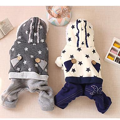 Hund Overall Hundekleidung Lässig/Alltäglich Sterne Beige Grau