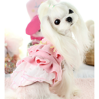 Hond Jurken Hondenkleding Effen Roze Katoen Kostuum Voor huisdieren Casual/Dagelijks