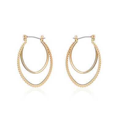 Pentru femei Bijuterii Cercei Picătură - Placat Auriu Auriu