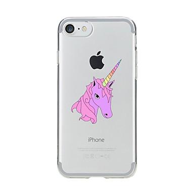 Maska Pentru Apple iPhone 7 Plus iPhone 7 Transparent Model Capac Spate Inorog Moale TPU pentru iPhone 7 Plus iPhone 7 iPhone 6s Plus