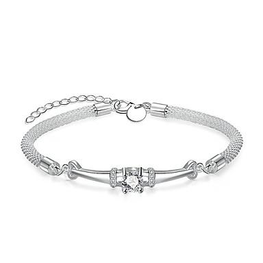 Pentru femei, Fete Cristal Brățări cu Lanț & Legături - Cristal, Argilă Argintiu