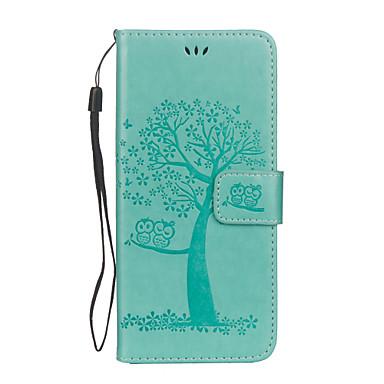 Недорогие Чехлы и кейсы для Galaxy S6 Edge-Кейс для Назначение SSamsung Galaxy S8 Plus / S8 / S7 edge Кошелек / Бумажник для карт / со стендом Чехол Сова / дерево Твердый Кожа PU